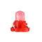 4 / 10PCS T4ウェッジLED電球計器ダッシュボードダッシュ気候ベースランプライト  - 赤