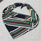 50*50CM Fashion Women Small Chiffon Square Scarf Printing Geometric Scarf Headband - D