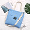 Women Canvas Solid Large Capacity Tote Handbag Shoulder Bag