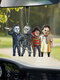 1 PC Halloween Doll Pendant Creative Horror Toys Zombies Skeleton Dwarf Decoration Car Rear View Mirror Hanging Funny Festival Gifts - #02
