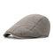 Men Women Cotton Retro Beret selvagem Cap Sunshade Casual Outdoors Peaked Forward Cap