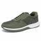 Men Sports Comfy Slip Resistant Outdoor Microfiber Leather Casual Sneakers - Green