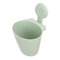 Hanging Suction Cup Storage Barrel Bathroom Toothbrush Cosmetic Storage Box - Green