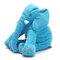 <US Instock>Large Elephant Soft Sleep Pillow Animals Plush Toy For Baby Sleep Cushion - Blue