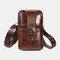 Hommes EDC Multi-Carry en cuir véritable 6,5 pouces porte-téléphone ceinture sac décontracté sac à bandoulière - #01
