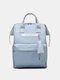 Casual Oxford Splashproof Large Capacity 14 Inch Handbag Backpack - Sky Blue