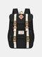 Women Waterproof Patchwork Large Capacity Travel Backpack School Bag - Black