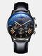 11 Colors Men Business Watch Leather Alloy Mesh Band Calendar Luminous Quartz Watch - #07