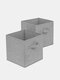 2/4/6 Pcs Storage Bins Collapsible Cubes Toy Book Organizer Boxes With Handles Storage Baskets For Organizing Closet Shelves - #04