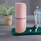 Travel Wash Cup Set Tooth Cylinder Simple Brushing Cup Toothpaste Storage Box Travel Toothbrush Box - Pink