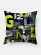 1PC Simple Letter Pattern Soft Colorful Pillow Home Sofa Car Lying Throw Cushion Cover - #04