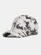 ユニセックス綿絞り染めグラデーションカラーファッション若い日よけ野球帽 - 白い