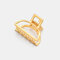 幾何学的な金属の髪の爪半円の月の形のヘアクリップ爪マットヘアピンヘアアクセサリー  - 8