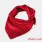 Square Plain Scarf Silk Headband Small Neckerchief Head Neck Lady Women Scarves - Wine Red