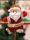 1 Pc arbre de noël accessoires noël petites poupées bonhomme de neige cerf ours tissu marionnettes petit pendentif suspendu cadeau - #01