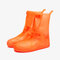 Unisex Thicken Waterproof Slip Resistant Clear Rain Shoes Foot Cover Protective - Orange