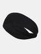 Unisex Sport Cycling Sweat Absorption Seamless Breathable Headband Headscarf - Black