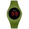 カジュアルスポーツ男性女性LED電子Watchシリコンバンド発光センサー防水デジタルWatch - 緑