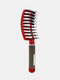 Hair Scalp Massage Comb Wet Curly Detangle Hair Arc Comb Salon Hairdressing Styling Tools - Red