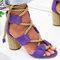 Plus Size Women Ladies Fashion Lace Up Peep Toe High Heel Sandals