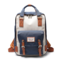 Women Canvas Casual Patchwork Large Capacity Backpack - Blue 1#