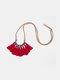 Bohemian Cotton Thread Tassel Long Necklace - #01
