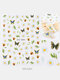 3D Nail Art Stickers Waterproof Small Fresh Colorful Simulation Dried Flowers Butterfly Nail Decals - #01