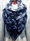 Sciarpa stampata donna scialle multiuso Collo Avvolgere sciarpa calda - blu
