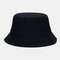 Unisex Fashion Casual Jelly Color Solid Poetable Sunscreen Outdoor Sun Hat Bucket Hat - Black