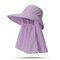 Cappello da donna con protezione solare estiva in tinta unita Cappello da muschio per esterno Cappello rimovibile casual - #05