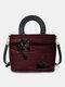 Women Cat Striped Handbag Crossbody Bag Shoulder Bag Satchel Bag - Red