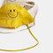 Children's Fisherman Hat Detachable Face Screen Windproof Transparent Dust Cap  - Yellow
