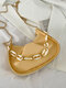 Casual Thick Chain Faux Fur Pleated Design Underarm Bag Simple Multi-Carry Dumpling Bag - Yellow