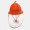 Children's Mesh Cap Breathable Fisherman Hat Removable Face Screen  - Orange