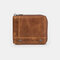 Men Genuine Leather RFID 7 Card Slots Coin Purse Wallet - Brown
