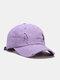 Coton unisexe trous cassés mode chapeau de baseball pare-soleil extérieur - violet