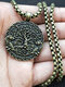 Vintage Carved World Trees Men Necklace Wolf Long Necklace Jewelry Gift - #04