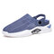 Men Breathable Mesh Fabric Light Weight Two Ways Casual Sandals - Blue