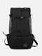 1 PC Canvas Multi-carry Mesh Breathable Safe And Comfortable Light Outdoor Travel Backpack Dog Pet Multifunction Carrier Backpack - Black