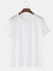 Mens Solid Color Cotton Round Neck Short Sleeve Casual Basic T-Shirts - White