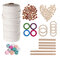 A Set Of Natural Wood Beads Ring Rod Cotton Thread Set Kids DIY Wooden Jewelry Making Crafts Dream Catcher Tassels Accessories - #5