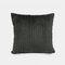 Nordic Solid Color Cord breit und schmal gestreift Flanell Kissen Schlafzimmer Sofa Autokissenbezug - Schwarz