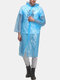 PE Body Protective Suit PE Disposable Dust-proof & Water-proof Hiking Raincoat - Blue