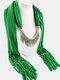 20 Colors Bohemian Women Scarf Necklace Shawl Autumn Winter Tassel Pendant Necklace - #01