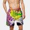 Mens Colorful Short de surf imprimé en vrac Short de pêche pour la pêche à la corde Qucik Dry
