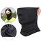 Unisex Breathable Quick-Drying Sunshade Anti-UV400 Flexible Soft Multi-Functional Face Mask Hat - Black