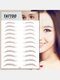 3D Eyebrow Tattoo Sticker Long Lasting Waterproof False Eyebrows Cosmetics - 15 Brown
