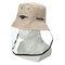 Anti-spitting Protective Mask Hat Anti-fog Anti-Splash Fisherman Full Face Cap   - Khaki