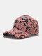 Men Cotton Graffiti Letter Pattern Casual Fashion Outdoor Sunshade Baseball Hat - Pink