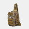 Men Nylon Camouflage Large Capacity Multi-carry Tactical Travel Outdoor Chest Bag Sling Bag - #03